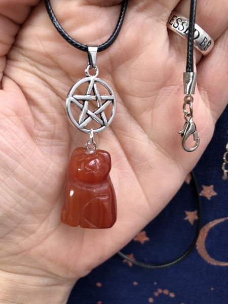 Jewellery,Home & Outdoor Decoration,Witch & Spell Craft Carnelian / Chain Cats Of The Craft Necklace