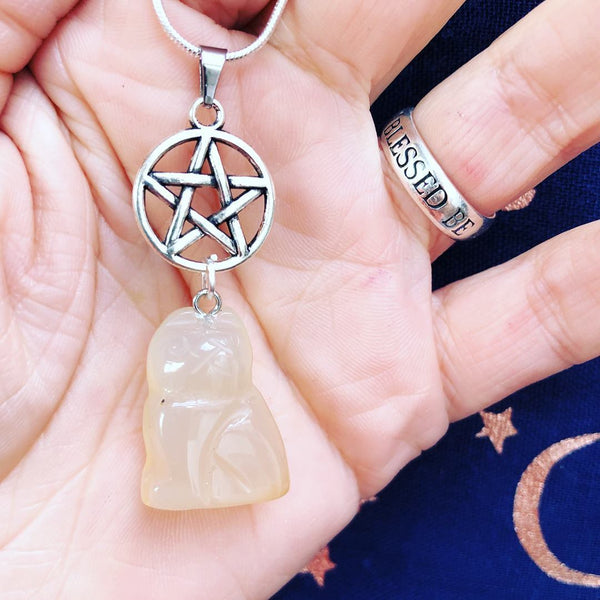 Jewellery,Home & Outdoor Decoration,Witch & Spell Craft MoonStone / Chain Cats Of The Craft Necklace
