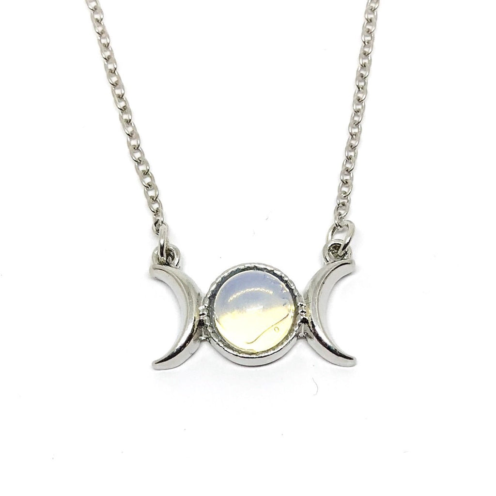 drakonaria goddess on triple with art moon necklace deviantart moonstone by