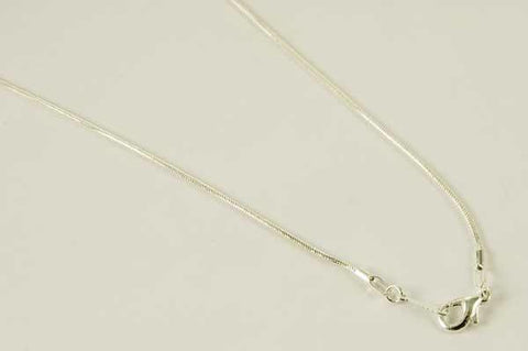 Jewellery Silver Plated Snake Chain ~ 18 Inch