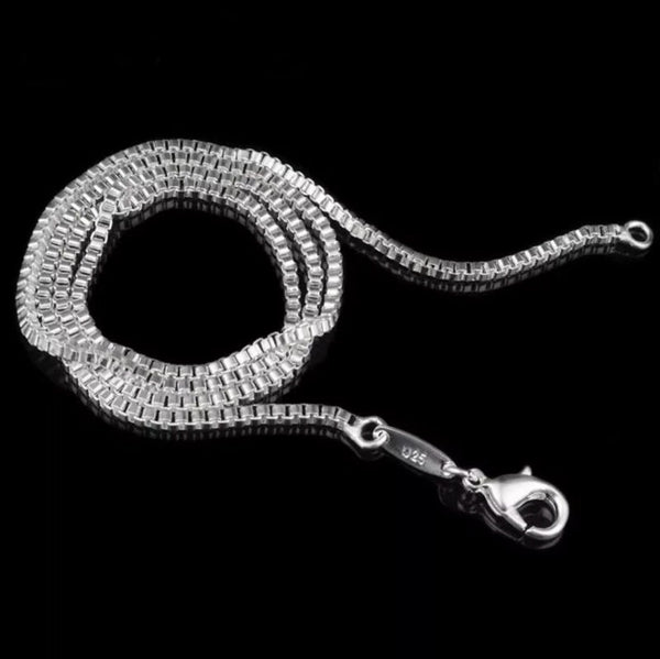 Jewellery Sterling Silver Box Chain ~ 20 Inch