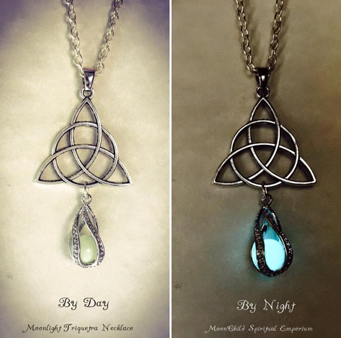 Jewellery Triquetra (Triangle) / Silver Plated Chain Moonlight Necklace ~ Variety Of Designs Available