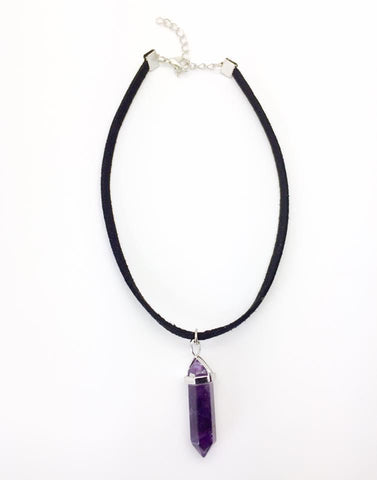 Jewellery,Witch & Spell Craft Amethyst Enchanted Crystal Choker