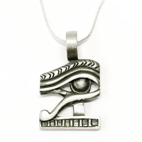 Jewellery,Witch & Spell Craft Chain Eye Of Horus Necklace ~ Pewter