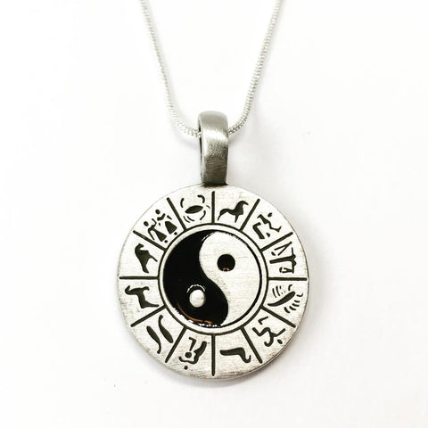 Jewellery,Witch & Spell Craft Chain Yin Yang Necklace ~ Pewter