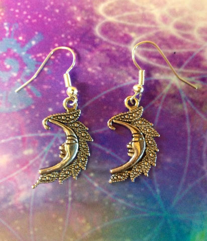 Jewellery,Witch & Spell Craft Crescent Moon Earrings