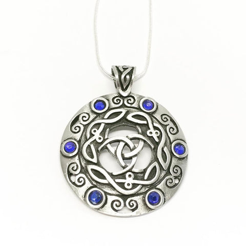 Jewellery,Witch & Spell Craft Silver Plated Chain Goddess Amulet Necklace