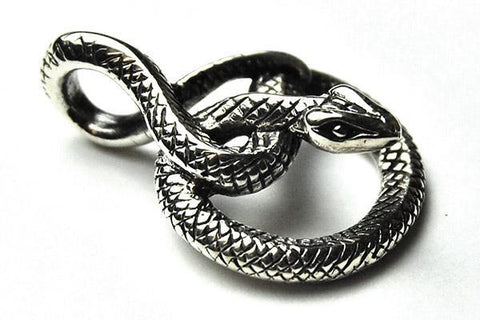 Jewellery,Witch & Spell Craft Snake Pendant ~ Sterling Silver