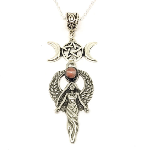 Jewellery,Witch & Spell Craft Winged Goddess Necklace