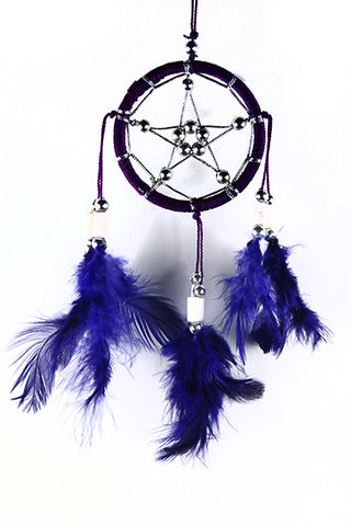 Pentacle Dream Catcher ~ Black or Purple