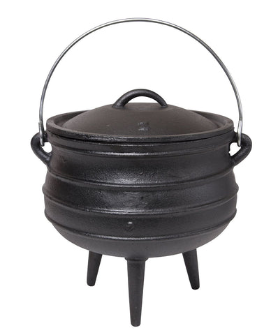 Ridged Black Cauldron ~ Extra Large
