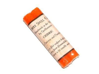 Witch & Spell Craft Beeswax Spell Candles - Orange