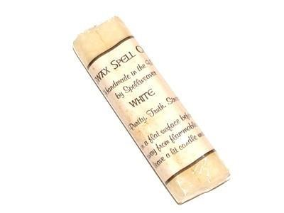 Witch & Spell Craft Beeswax Spell Candles - White