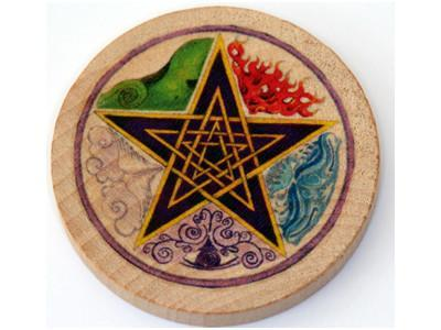 Witch & Spell Craft Elemental Pentacle Altar Tile