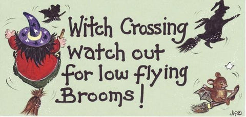 Witch & Spell Craft,Halloween Witch Crossing Sign