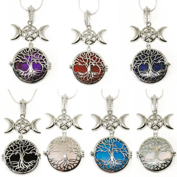 Witch & Spell Craft,Jewellery Tree Of Life Crystal Keeper Locket