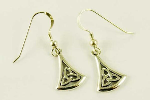 Witch & Spell Craft,Jewellery Trinity Triquetra Earrings ~ Sterling Silver