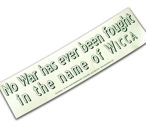 Witch & Spell Craft No War Bumper Sticker