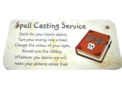 Witch & Spell Craft Spell Casting Service - Handmade Sign