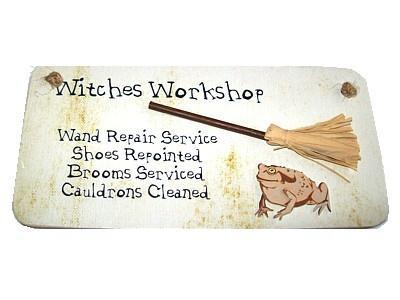 Witch & Spell Craft Witches Workshop - Handmade Sign