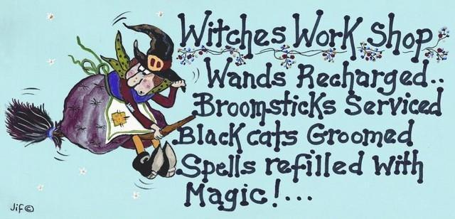 Witch & Spell Craft Witches Workshop Sign