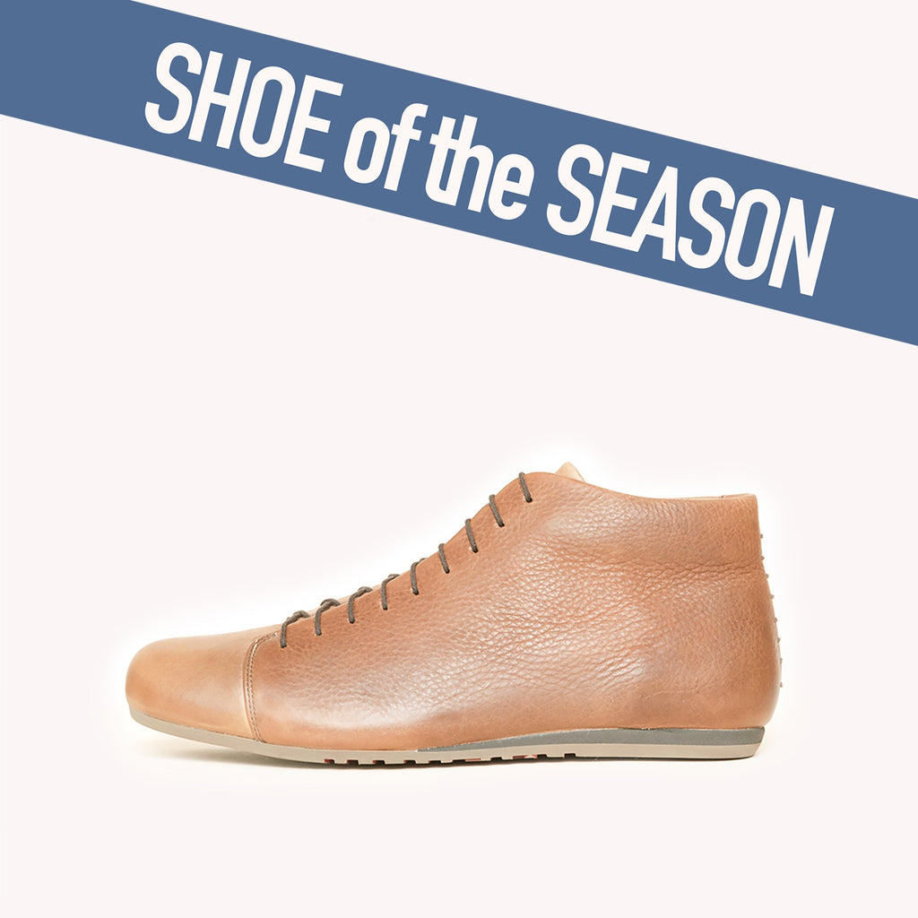 "DAS COGNAC BOOT is our ""Shoe of the Season"""