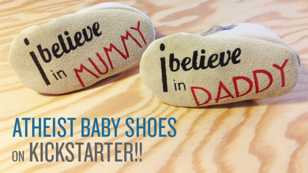 Atheist Baby Shoes on Kickstarter!
