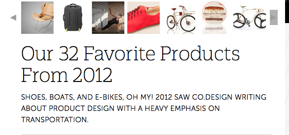 """Utterly Brilliant"" – FAST COMPANY DESIGN chooses ATHEIST as one of their products of the year, 2012"