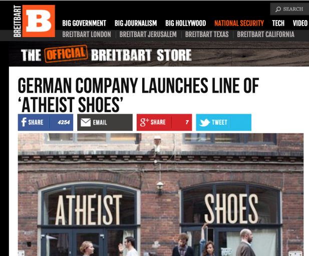 "ATHEIST Shoes a ""National Security"" Issue?"
