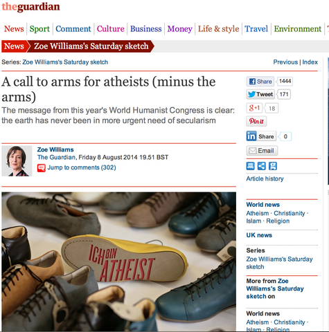 Atheist Shoes featured on The Guardian.