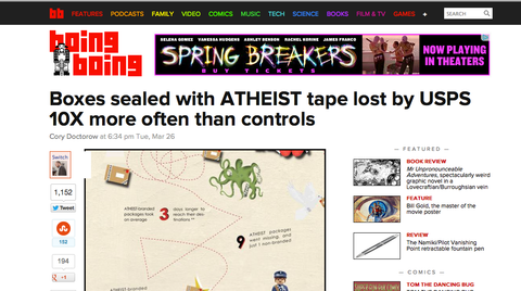 Atheist Shoes featured on BoingBoing.