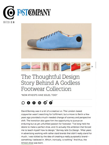 Atheist Shoes featured on Fast Company