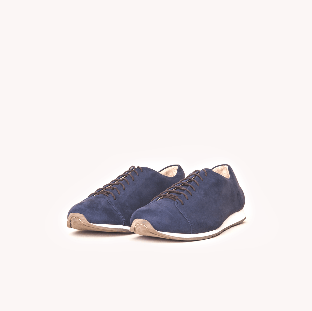 Atheist shoes - Das Sneaker Navy. Ridiculously comfortable leather sneakers, designed in Berlin and handmade in Portugal