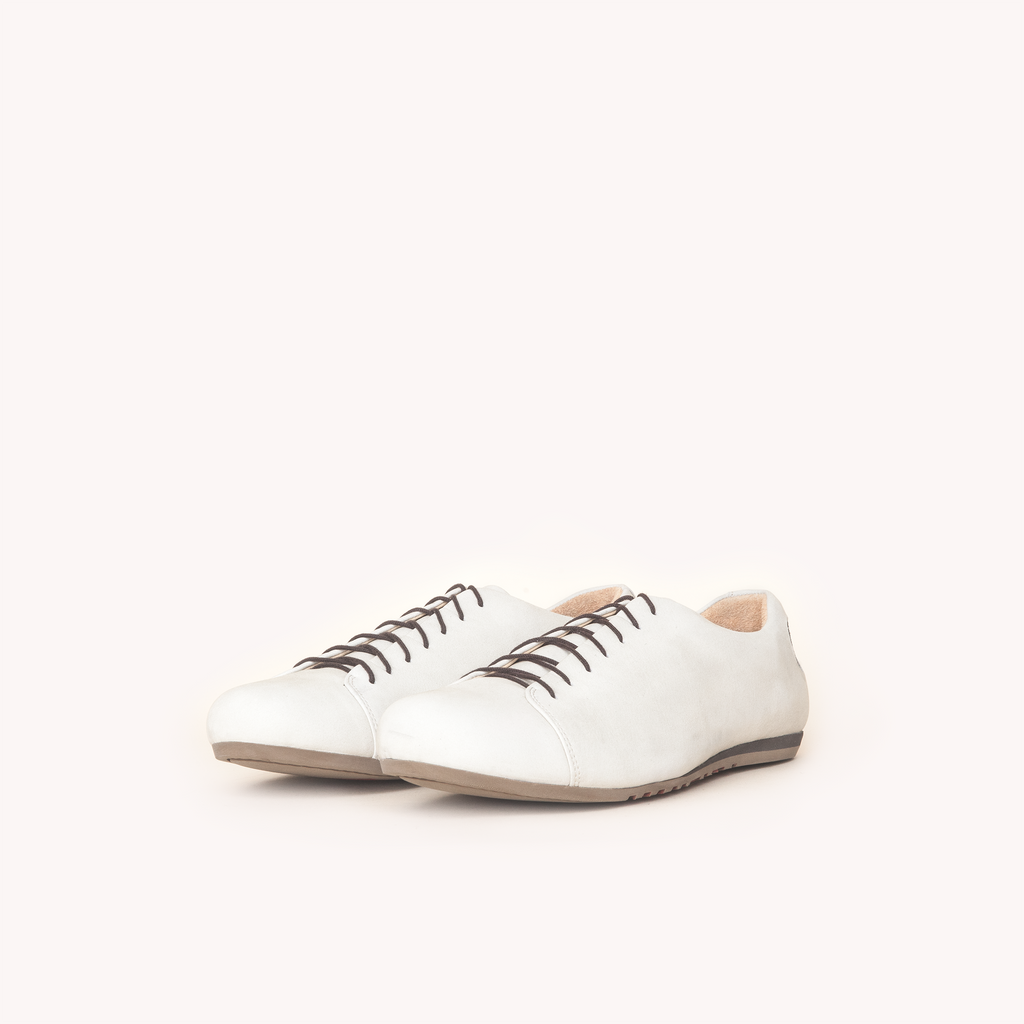 Atheist shoes - the Nabokov Cream. Ridiculously comfortable nubuck leather shoes, designed in Berlin and handmade in Portugal.