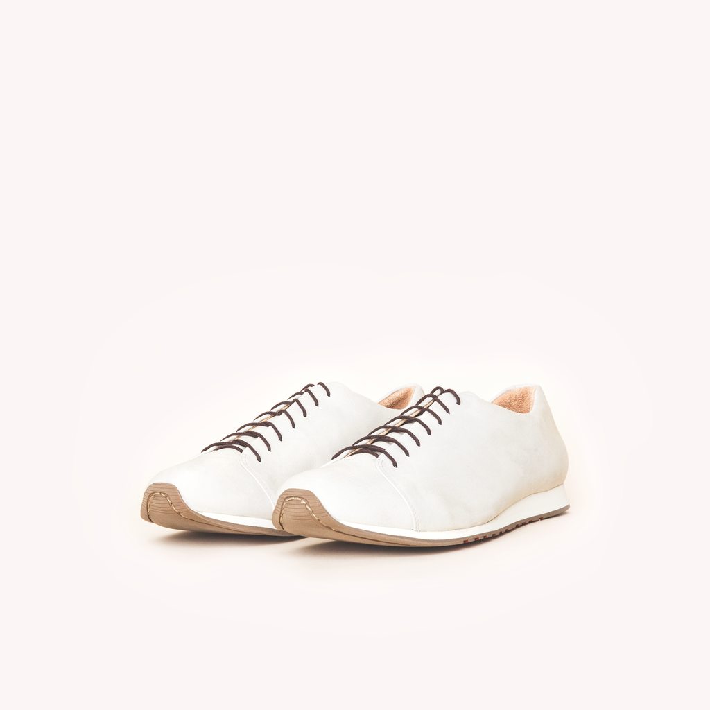 Atheist shoes - Das Cream Sneaker. Ridiculously comfortable nubuck leather sneakers, designed in Berlin and handmade in Portugal.