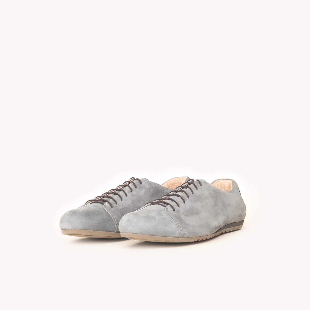 Atheist shoes - the Kitten Testicle Grey. Ridiculously comfortable nubuck leather shoes, designed in Berlin and handmade in Portugal.