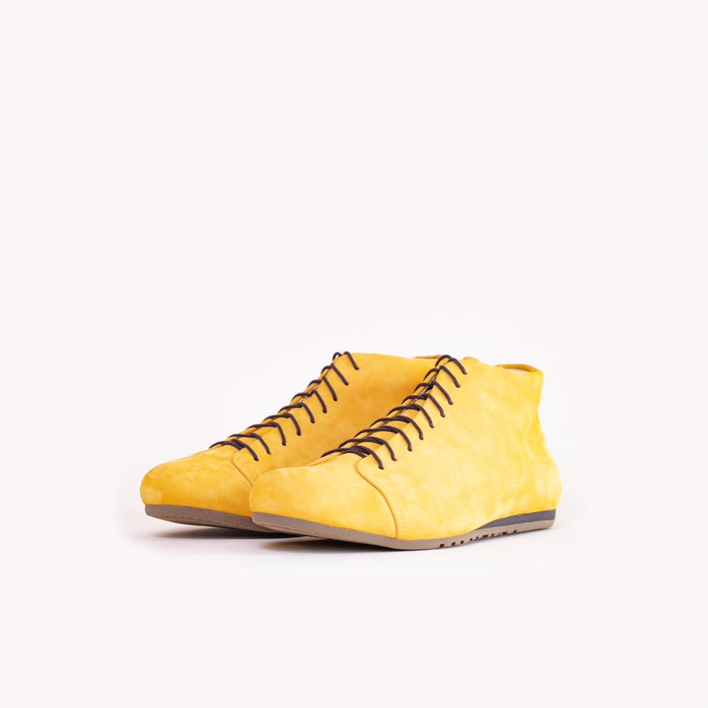 Atheist shoes - Das Honey Ochre Boot - ridiculously comfortable nubuck leather shoes, handmade in Portugal