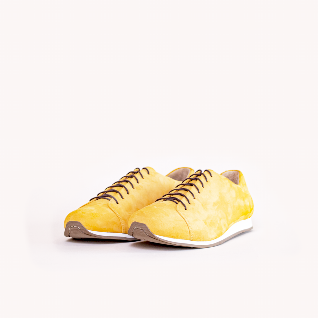 Atheist Shoes - Das Sneaker Honey Ochre. Ridiculously comfortable leather sneakers, designed in Berlin and handmade in Portugal