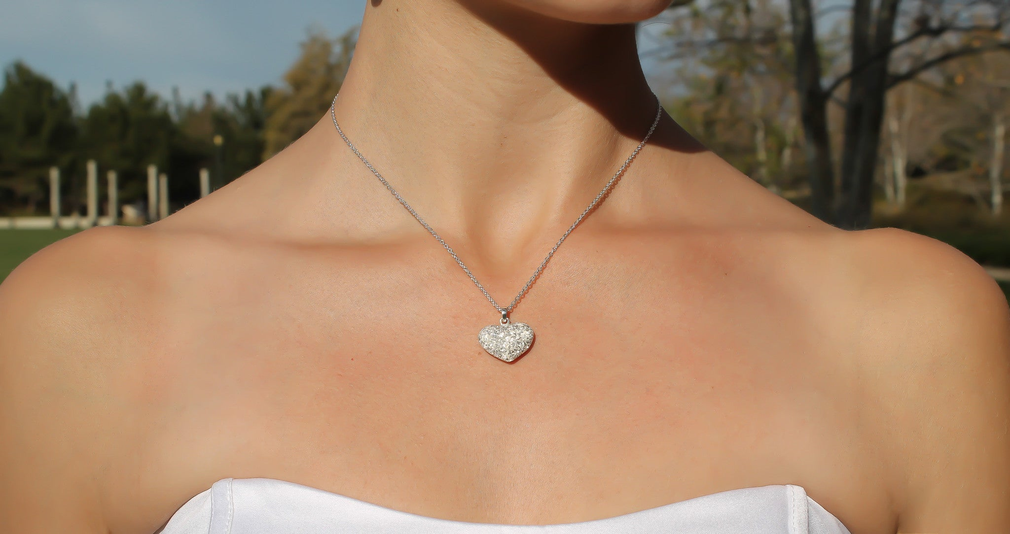 Wedding Necklaces Sparkling & Crystalline 925 Silver - Bride Glamor