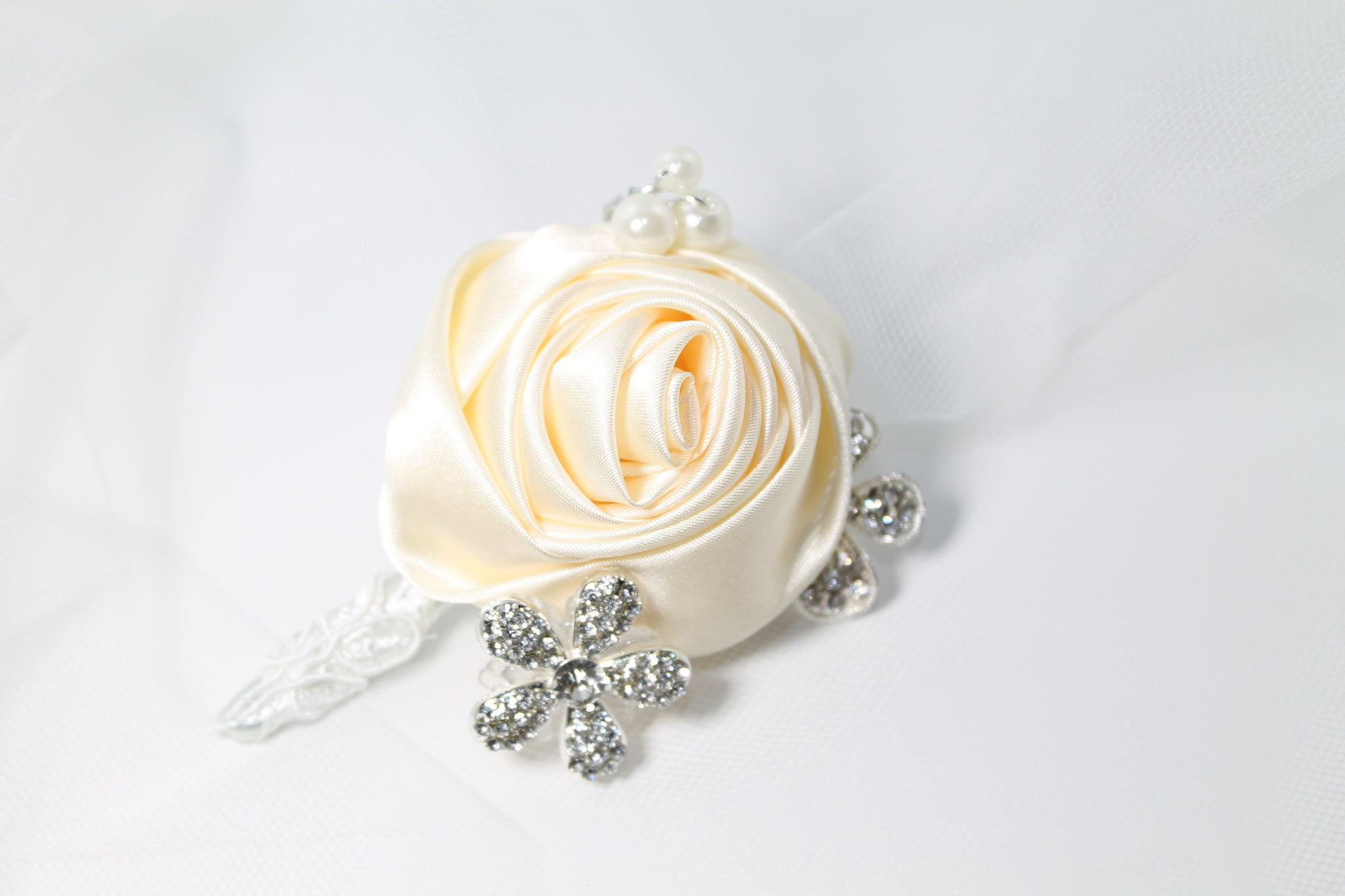 Brooch Boutonniere Ivory - Bride Glamor