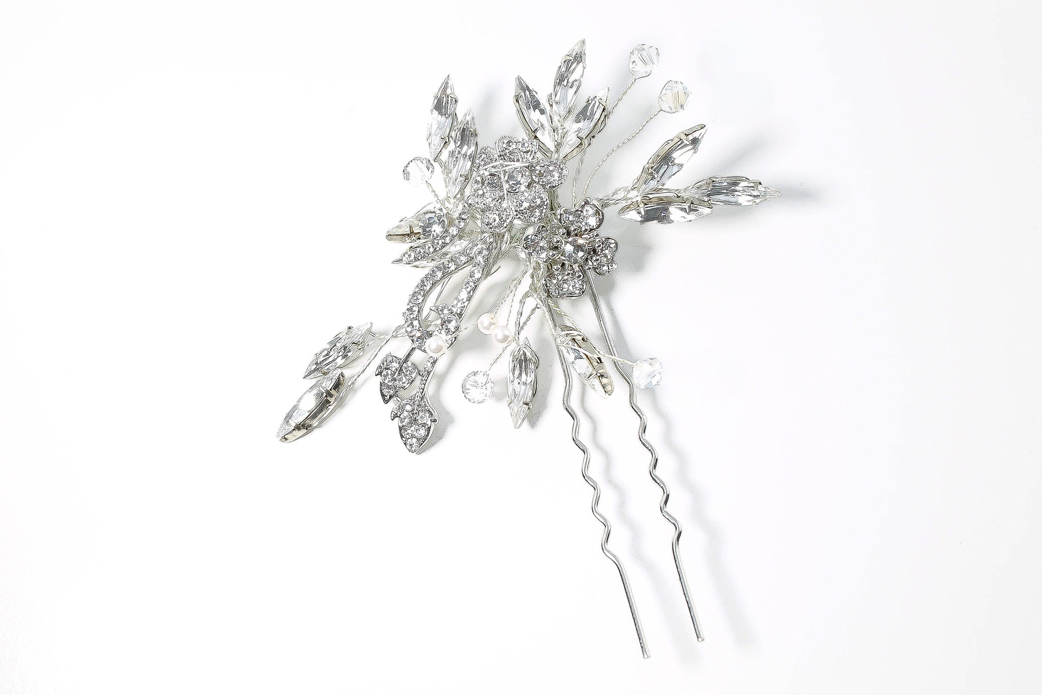 Bridal Hair Pin - Swarovski Crystals - Bride Glamor