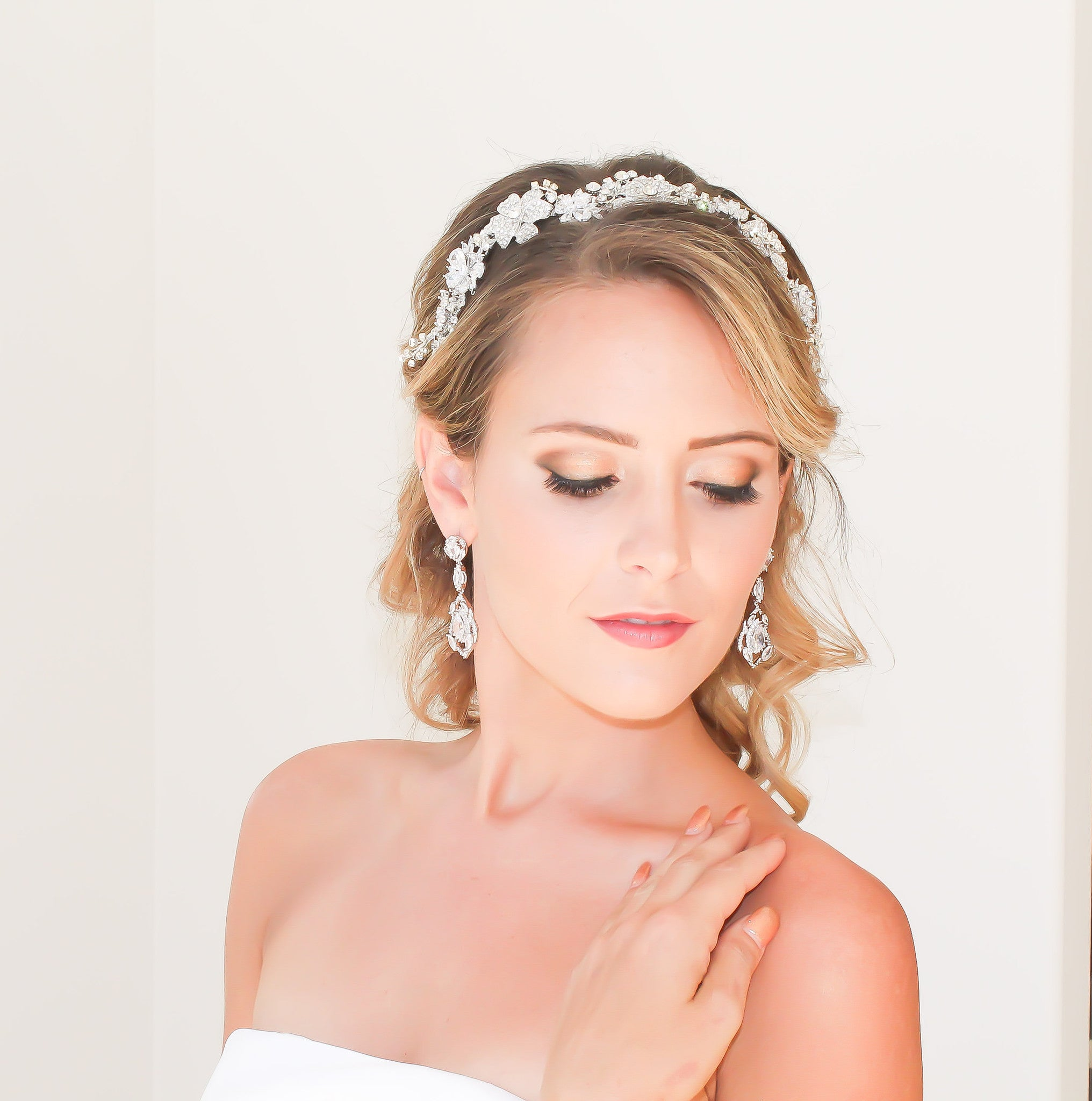 Bridal Hair Band Handcrafted With Swarovski Crystals- Bride Glamor