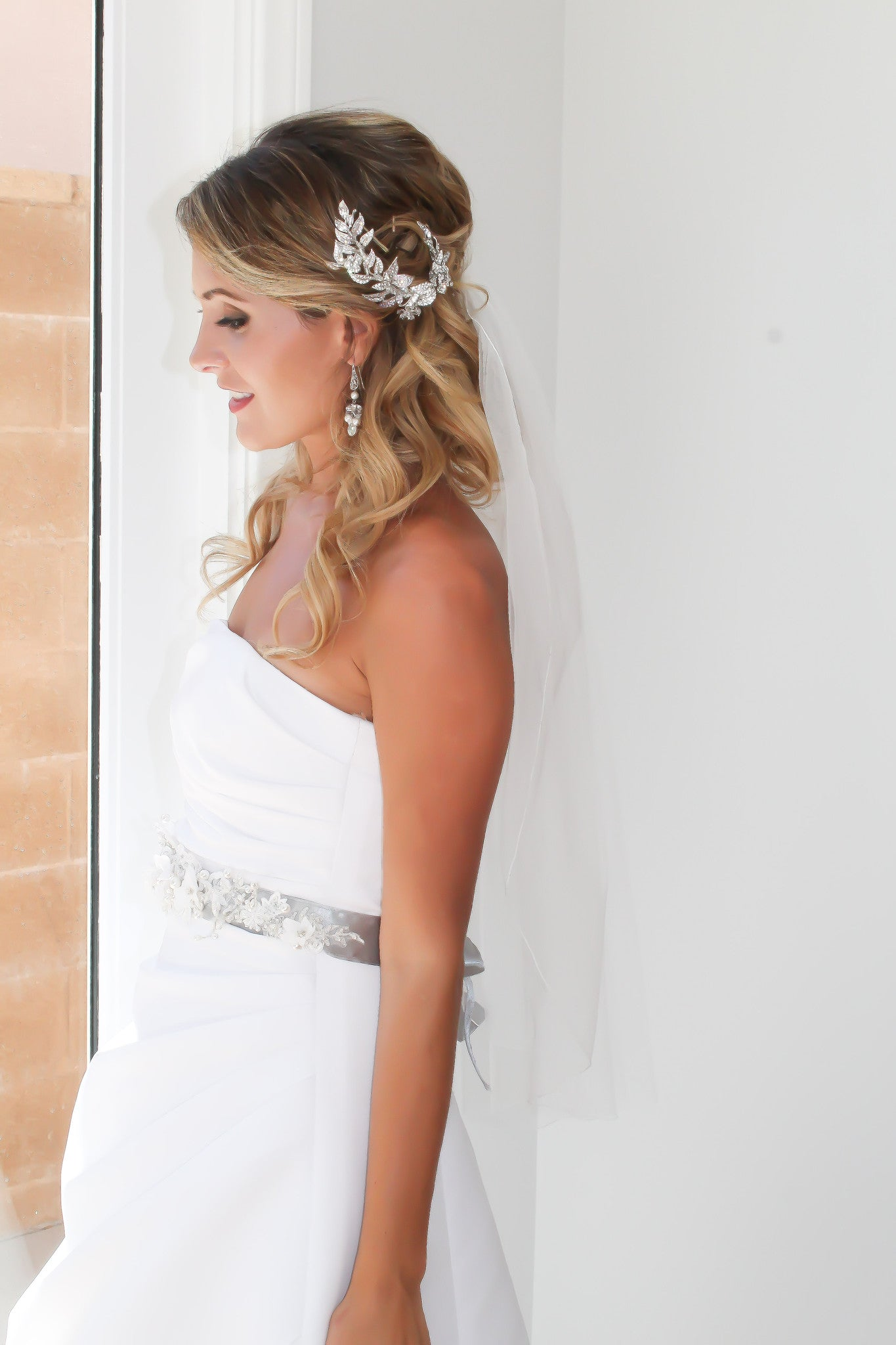 Wedding Headpiece Handcrafted With Swarovski Crystals - Bride Glamor