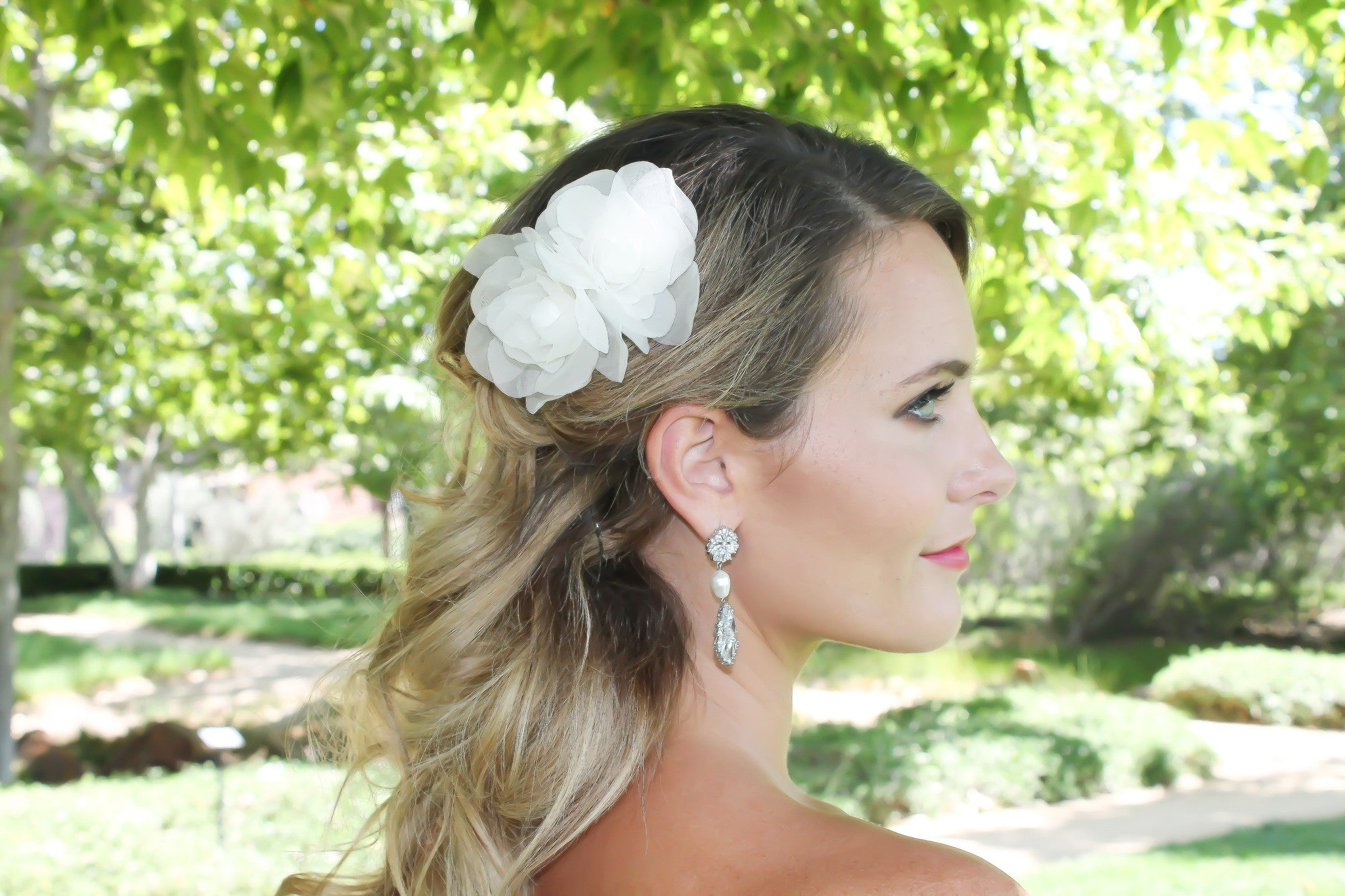 Wedding Hair Accessories Silk Flowers Handmade - Bride Glamor