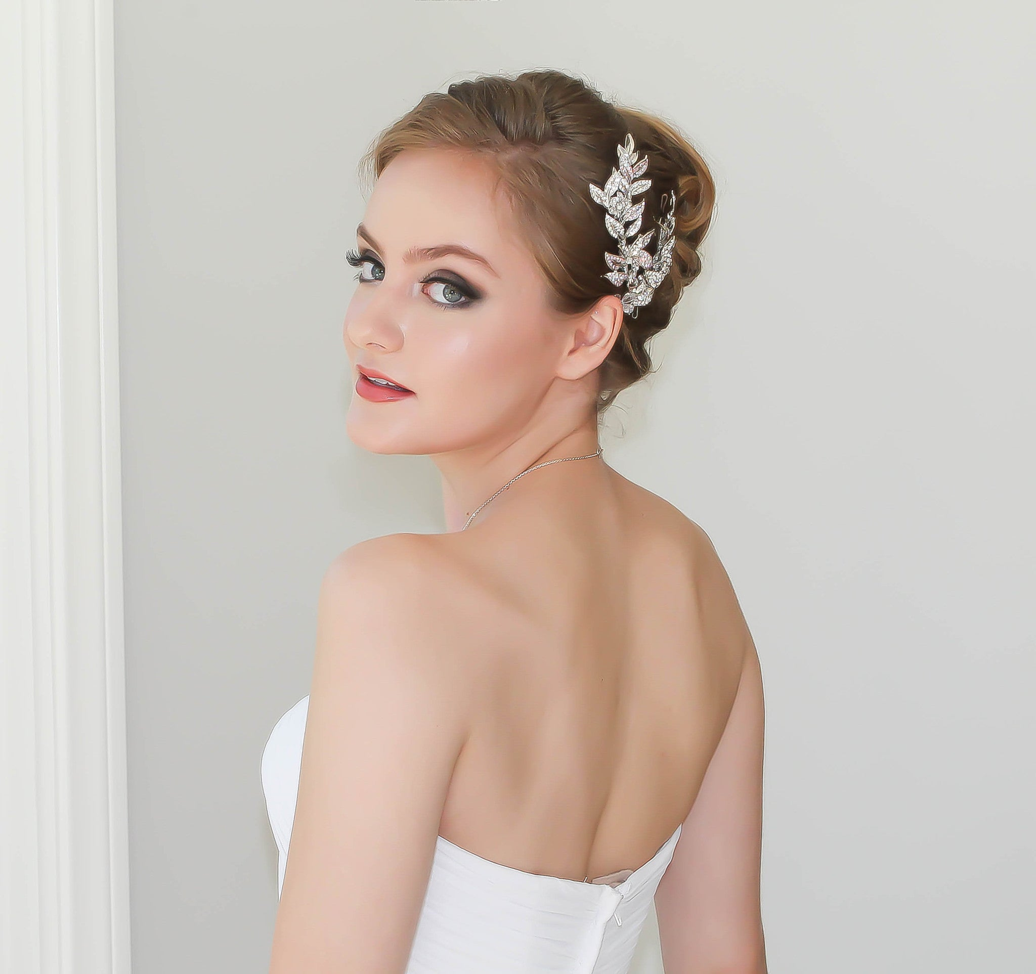 Bridal Headpiece Handcrafted Swarovski Crystals