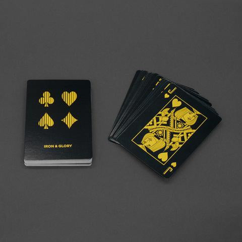 UP THE ANTE GOLD PLAYING CARD