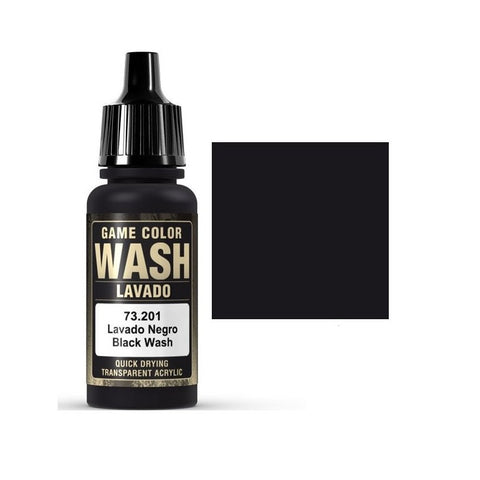 73201 Black Wash Vallejo Game Color