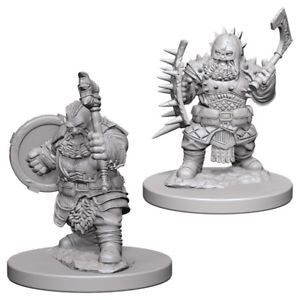 Dwarf Male Barbarian Unpainted Wizkids HD Mini