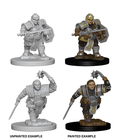 Dwarf Male Fighter Unpainted Wizkids HD Mini
