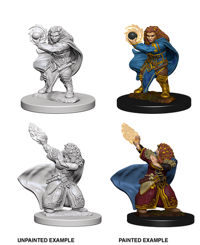 Dwarf Female Wizard Unpainted Wizkids HD Mini